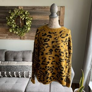 For the Republic Leopard Knit Sweater